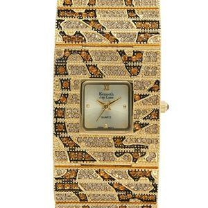 $695 New Kenneth Jay Lane Leopard Swarovski Watch
